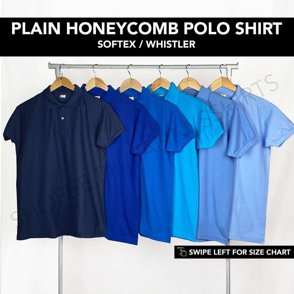 Unisex Plain Polo Shirt | Softex Whistler | Honeycomb | Navy Blue RBlue AqBlue Aqmarine SBlue LtBlue