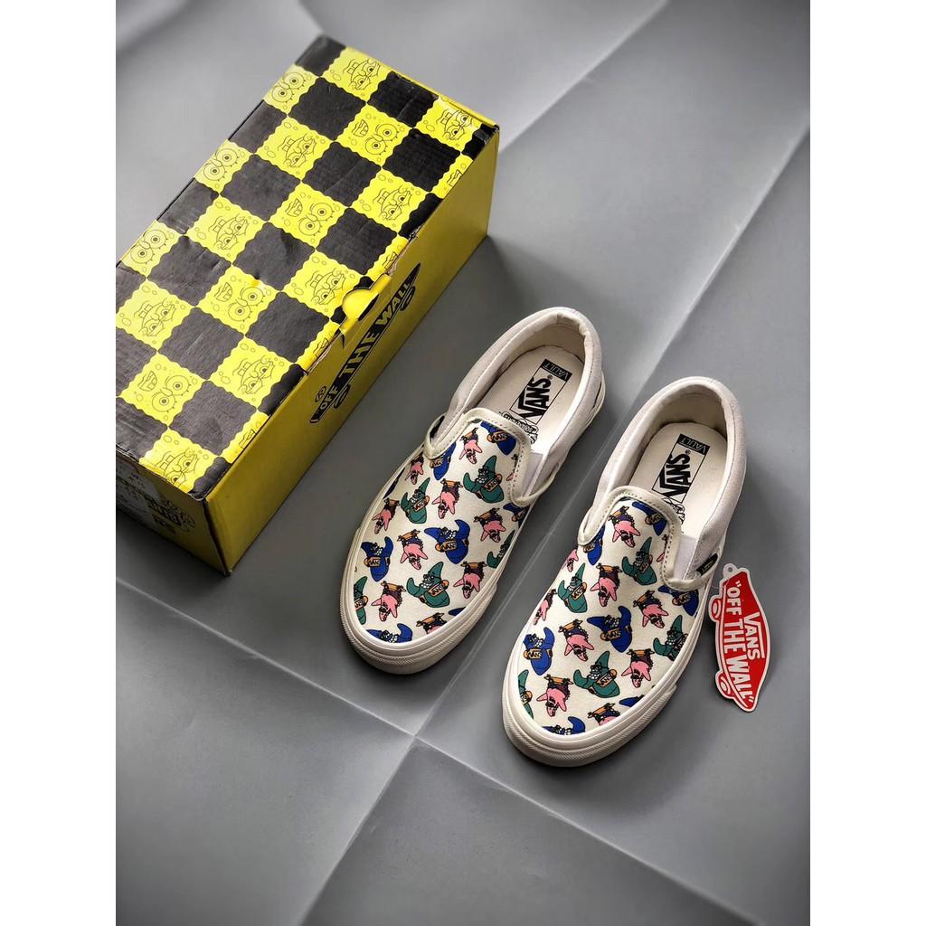 Spongebob x vans OG Classic Slip-On Shoes VN000UDFQM1  dad761db1f