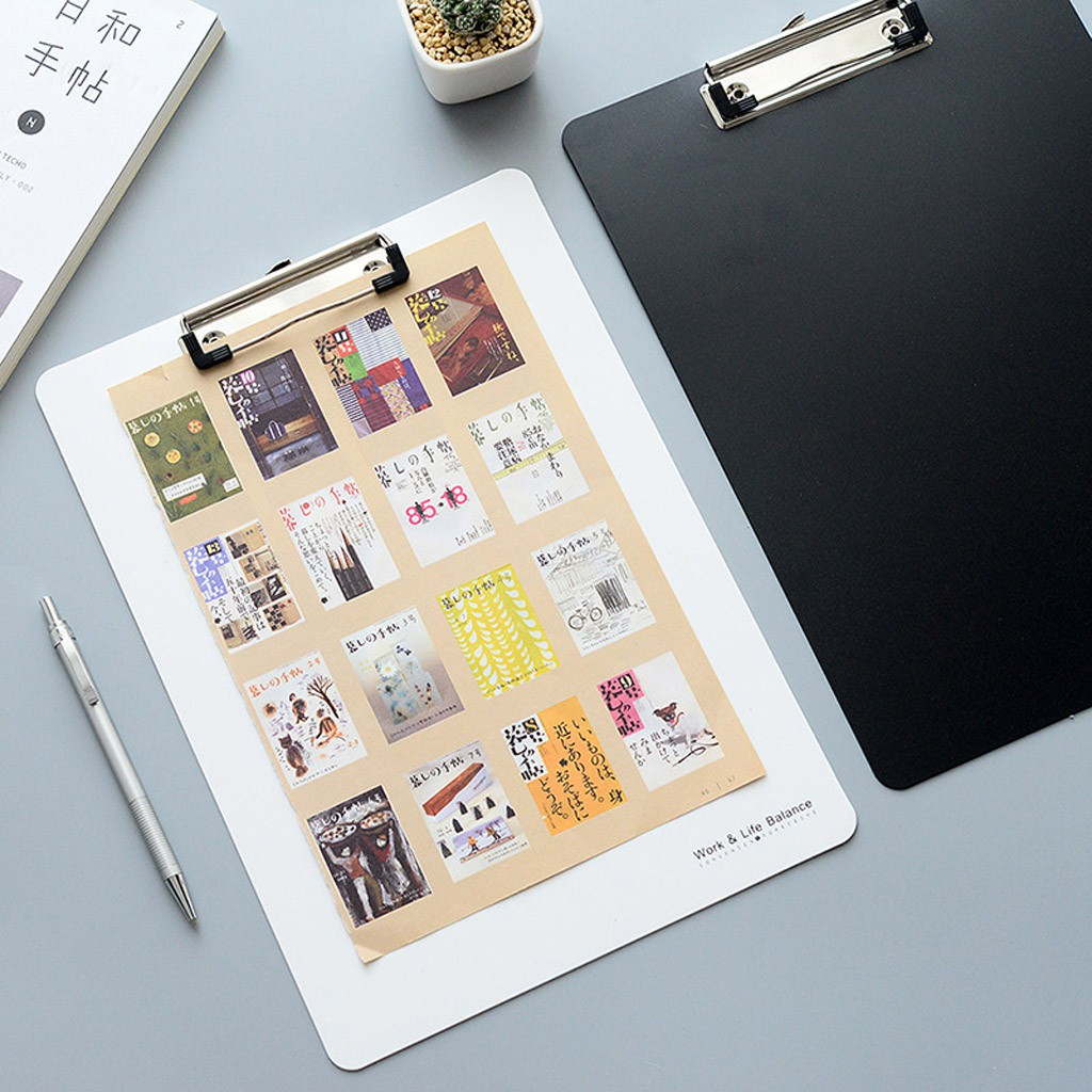 A4 Clipboard Writing Pad File Folders Document Holders Plactic Stationery