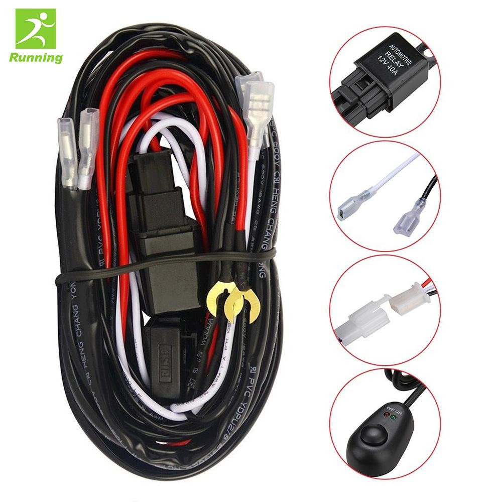 12v 40a Wiring Harness Kit Loom For Led Work Driving Light Bar Fuse 24v Switch Relay Relayzgfm Shopee Philippines