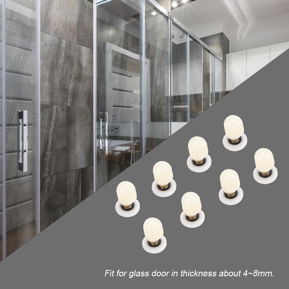 4PCS Bathroom Shower Sliding Door Pulleys Roller Runners Wheels  ❤