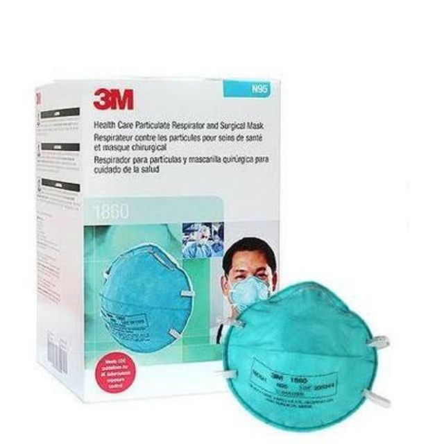 3m N95 Health Respirator 1860 Practiculate Care