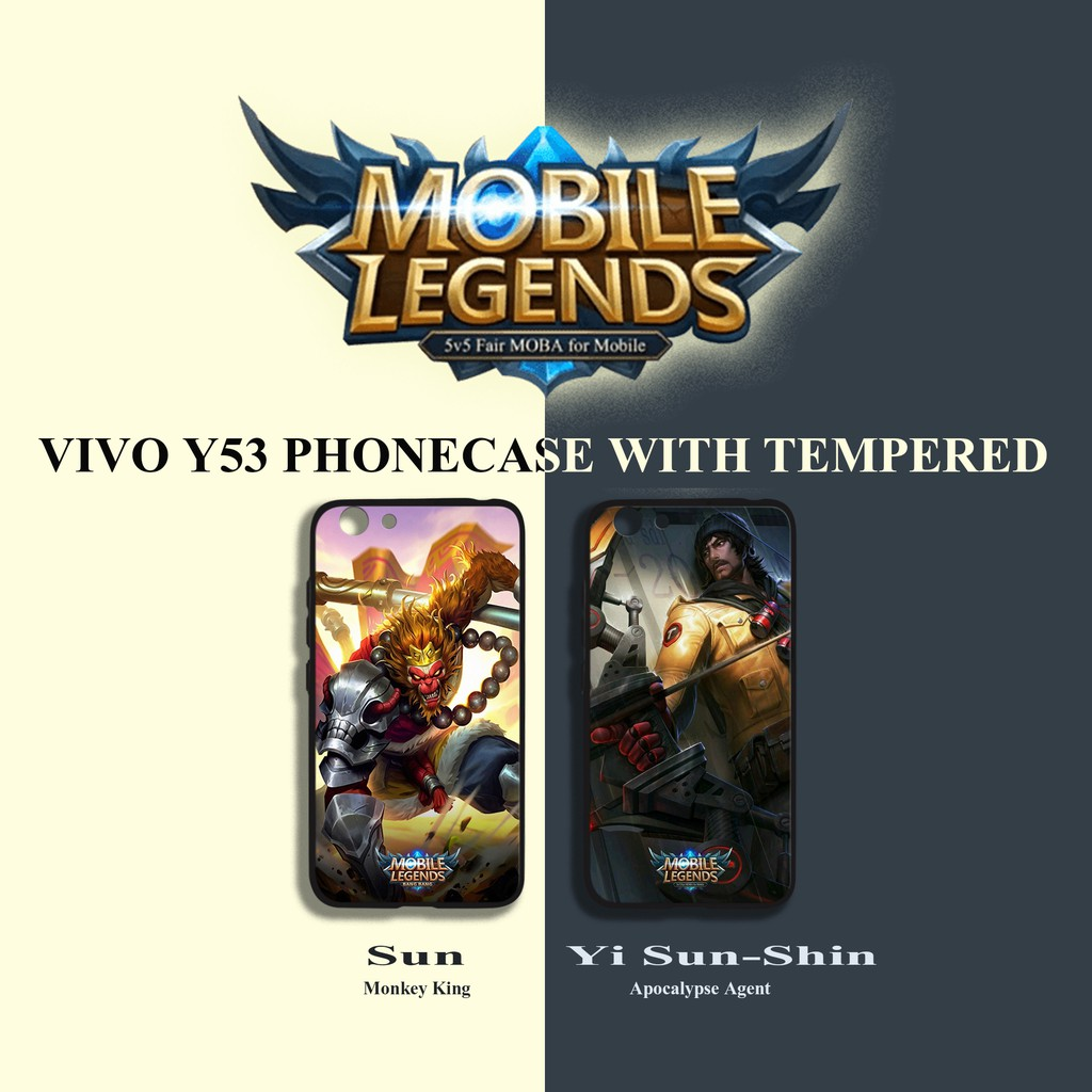MOBILE LEGENDS Vivo Y53 phonecase with tempered 2in1(Zerone