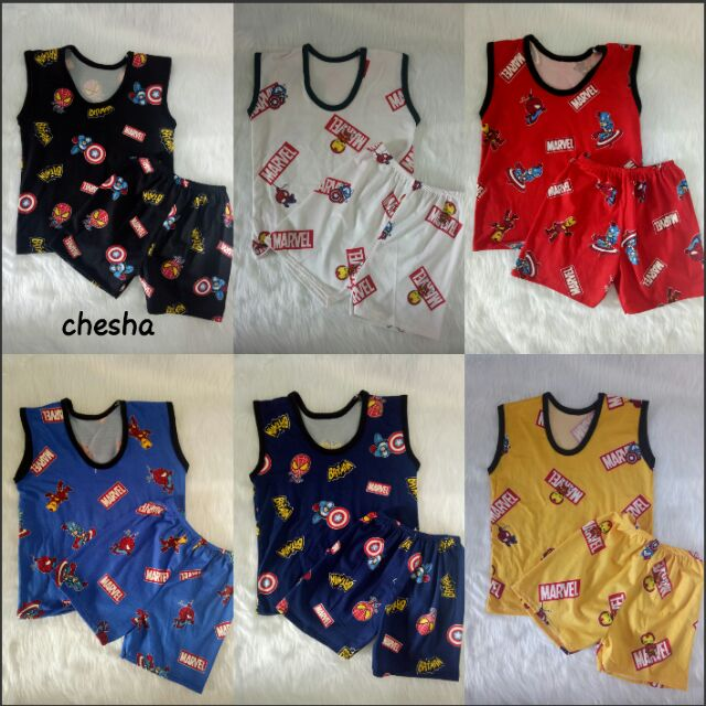 Marvel Sleeveless Terno/Set For Boy  (1-3 y/o)