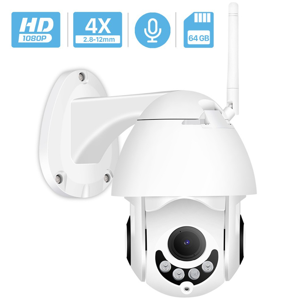 1080P WIFI IP Camera Wireless Outdoor CCTV  Dome HD Home Security IR Night Cam