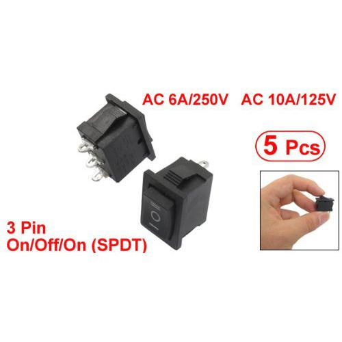 5 x Mini 3PIN Toggle Switch SPDT On-Off-On High Quality