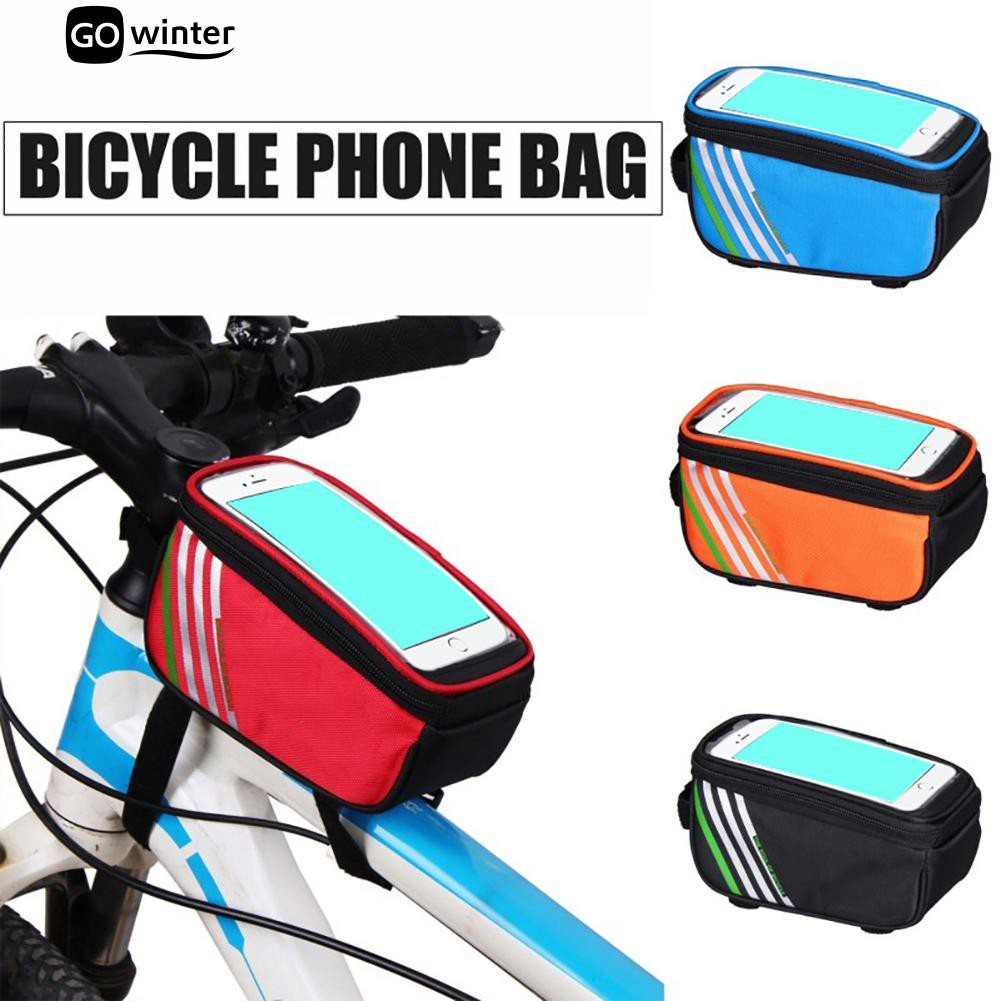 04b096970c2 Bike Bicycle Phone Holder Bag Waterproof Handlebar Touch Screen Shockproof  Pouch