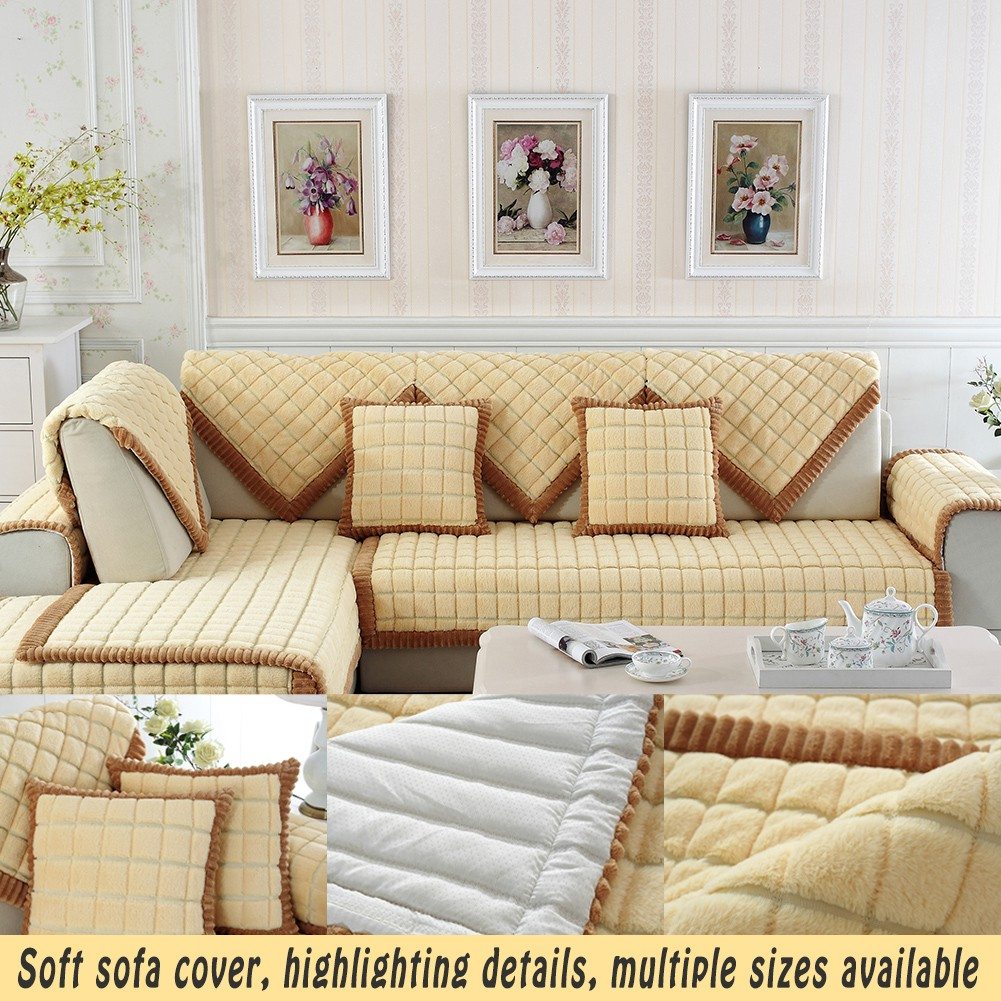 sofa cover elastic stretch slipcover Slipcovers Sectional Sofa Covers Decor  Yellow