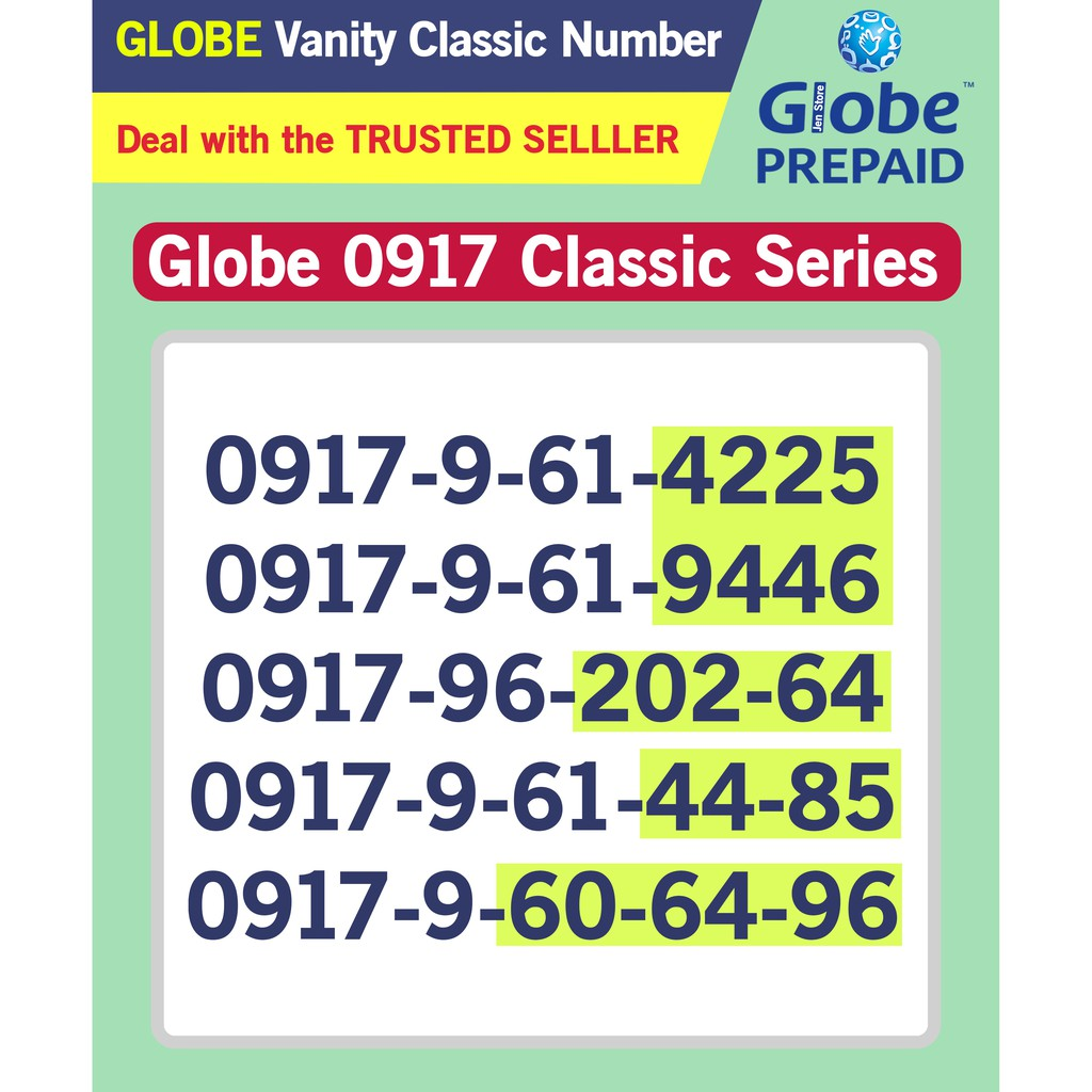 Globe Sim Vanity 0917 Classic RARE to FIND this Series Group 1