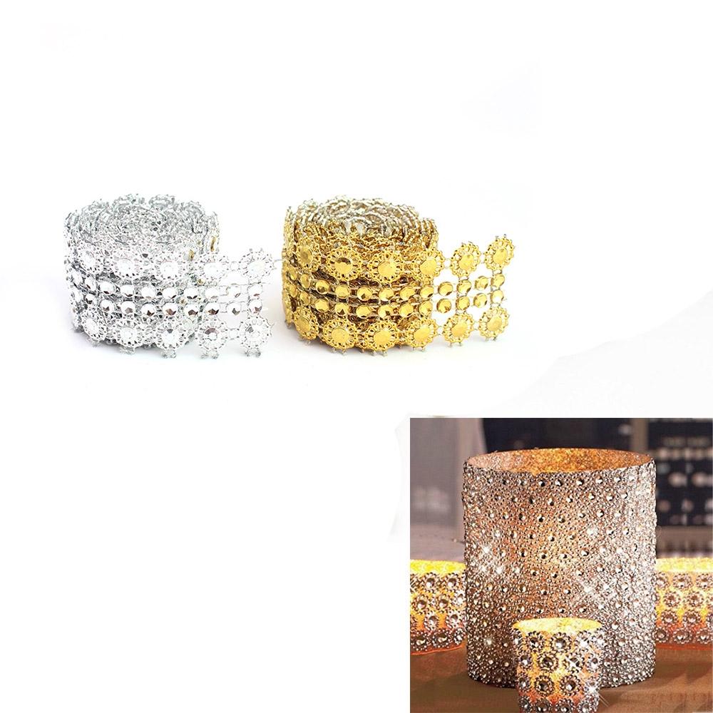 Table Decoration Tape Tulle Hollow Mesh Roll Diamond Wedding Ribbon Sun Flower