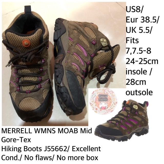 merrell size 8 womens us