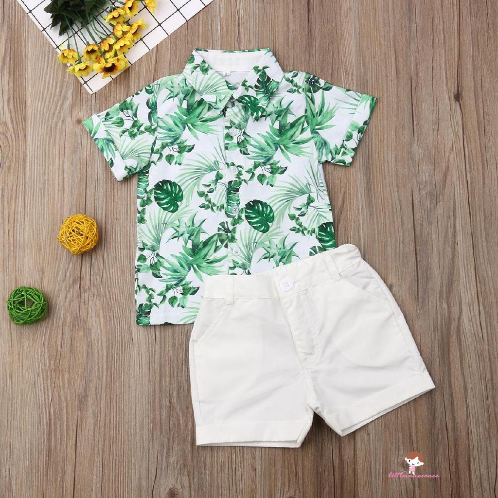 ❤XZQ-Toddler Kids Baby Boy Gentleman Set Clothes Shirt