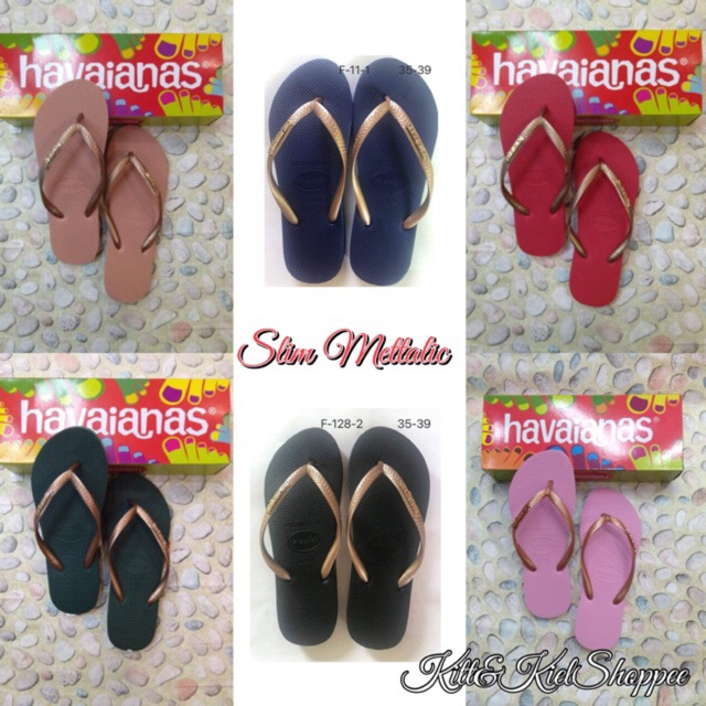 5ee477b80 Havaianas Plain Big Strap with Pin Heart