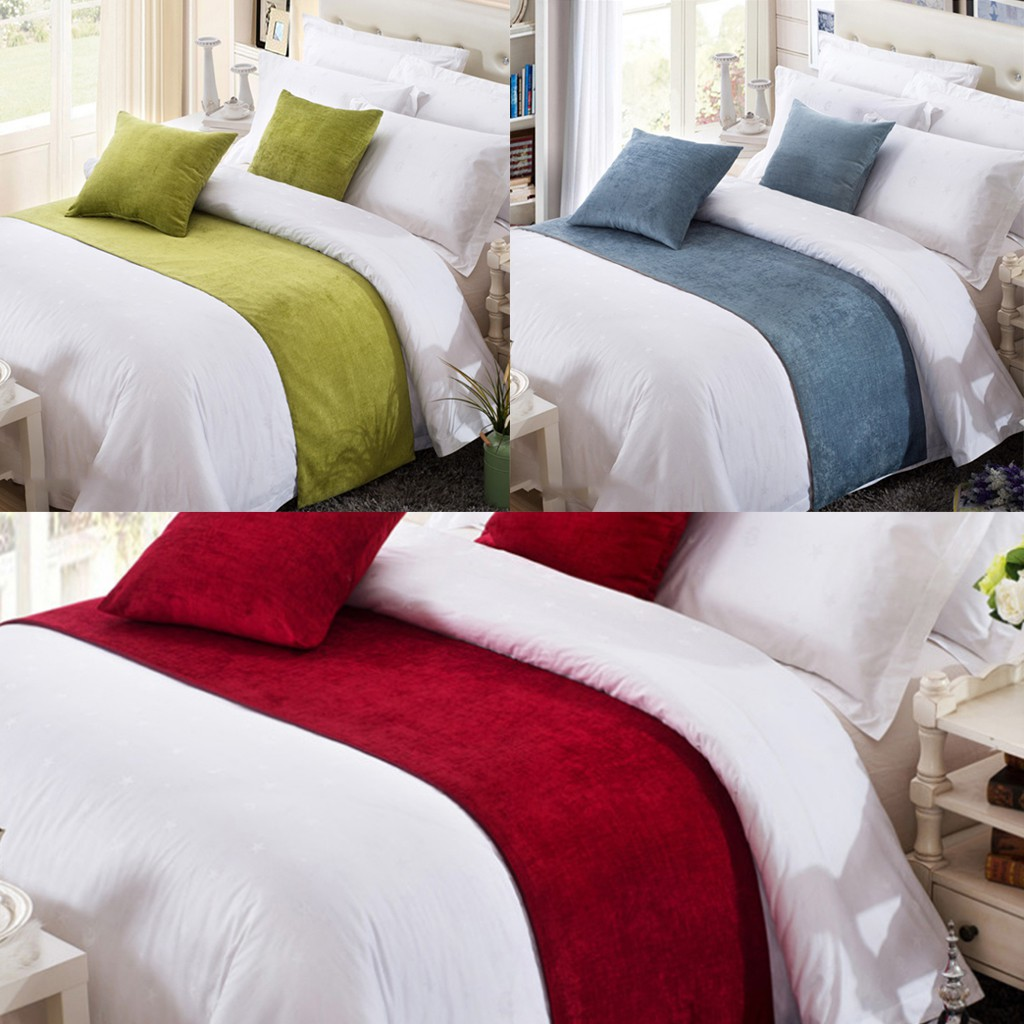 Chenille Fabric Decorative Bed Runner Scarf Soft Classic Modern Dcor Shopee Philippines