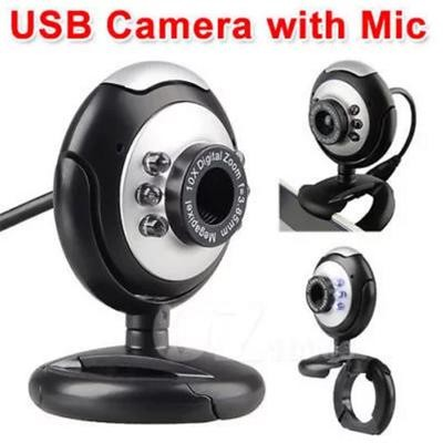 AK 6 LED Webcam For Laptop With Mic