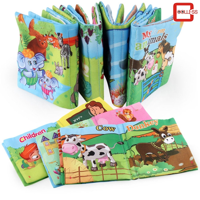 Baby Early educate Learning Intelligence Development Cloth Cognize Fabric book//
