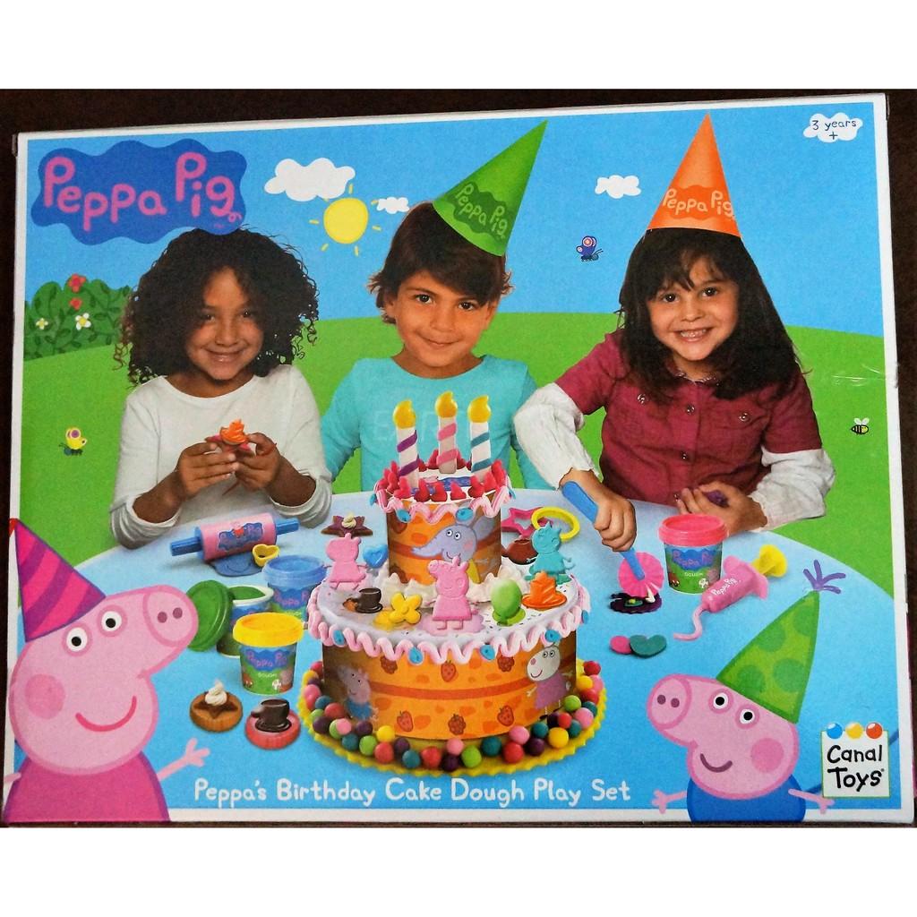 Peppa Pig Peppa S Birthday Cake Dough Play Set Shopee Philippines