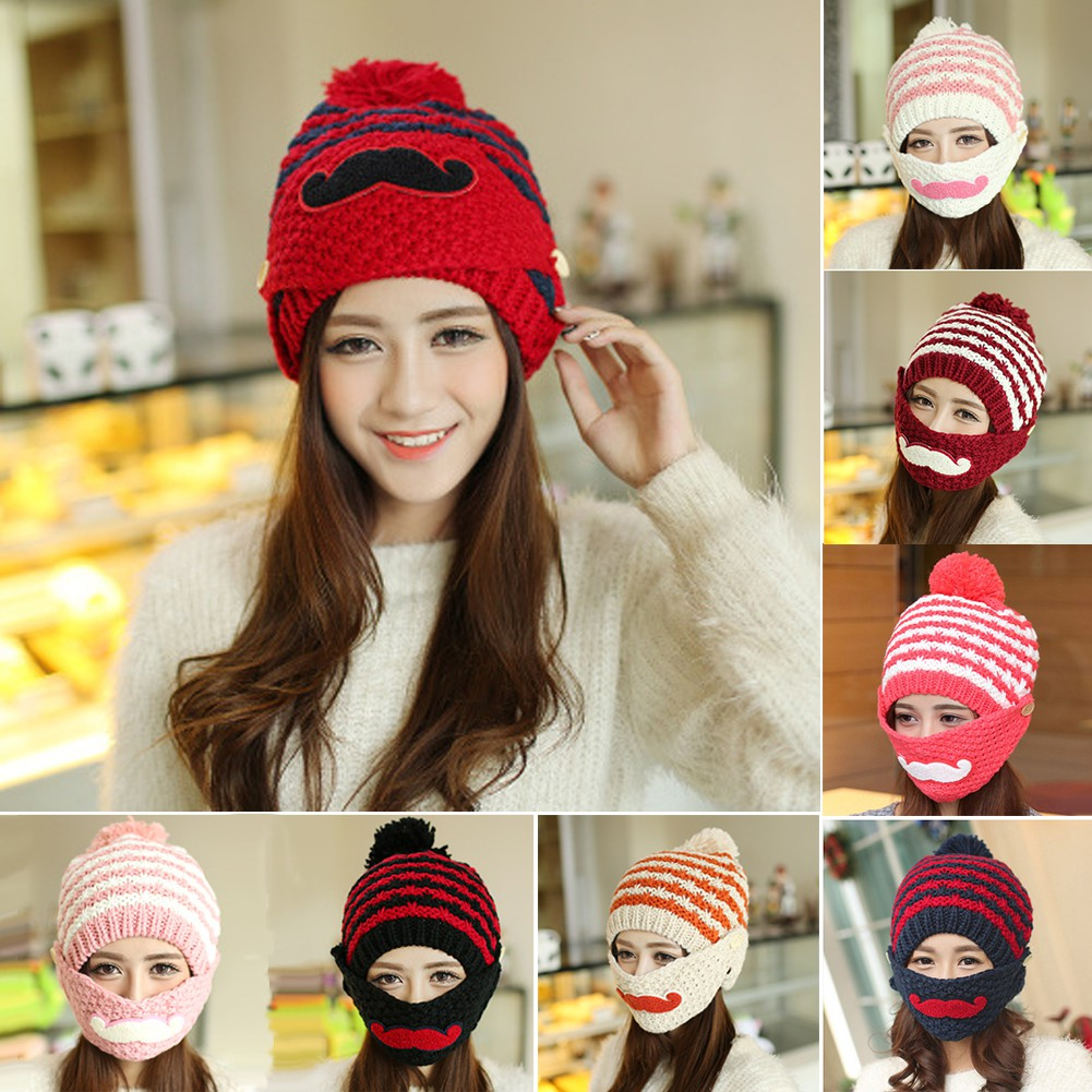 Women Winter Warm Braided Crochet Knitting Hat Girl Beret Ski Beanie Ball  Cap  07489af3d24d