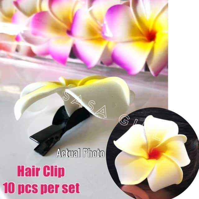 963e3ebdd Flower Hair Clip Kalachuchi 10 pcs per set Hawaii | Shopee Philippines