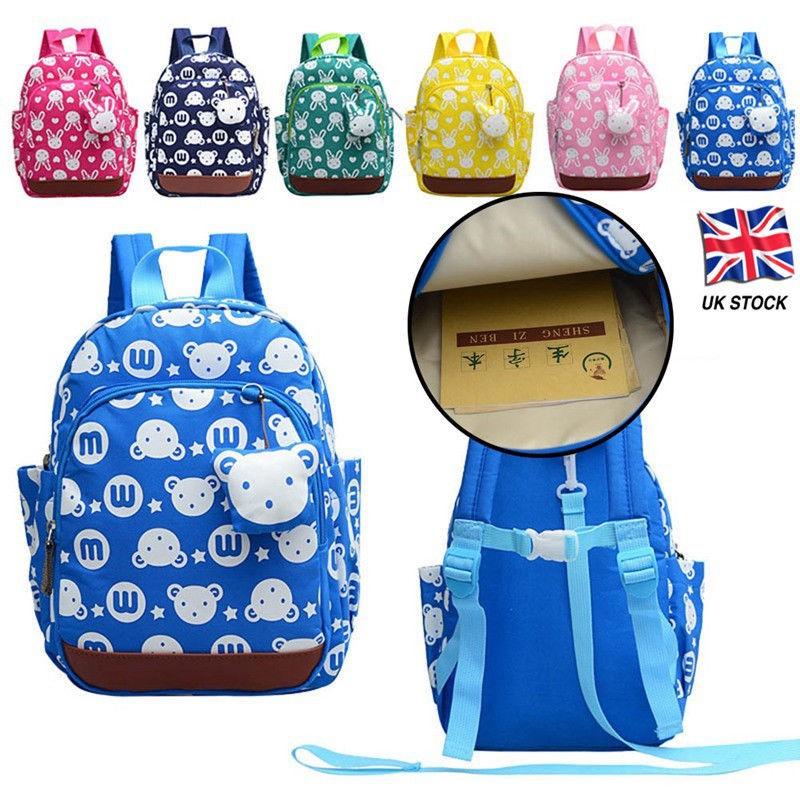 Kids Childrens Toddlers Character Backpack Rucksack Lunch School Bag Nursery UK