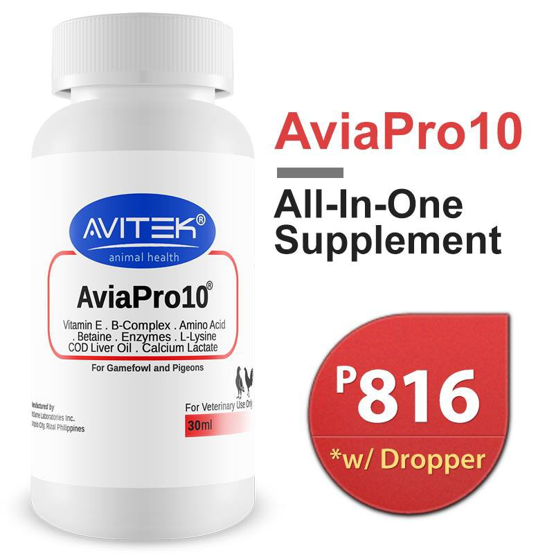 AviaPro 10 All-in-one Supplement for Gamefowl Conditioning
