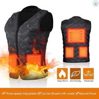 Adjustable Charging Heated Jacket Warmer Underwear Healthy Waistcoat Back Pain Relief Vest,M USB Heated Vest Waterproof Far Infrared Temperature Heating Vest