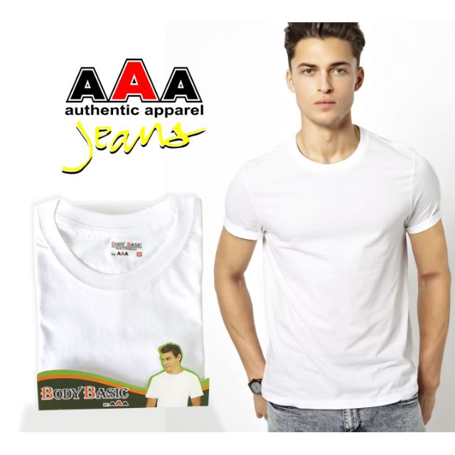 Men's T-Shirt White Round Neck ( Adult )