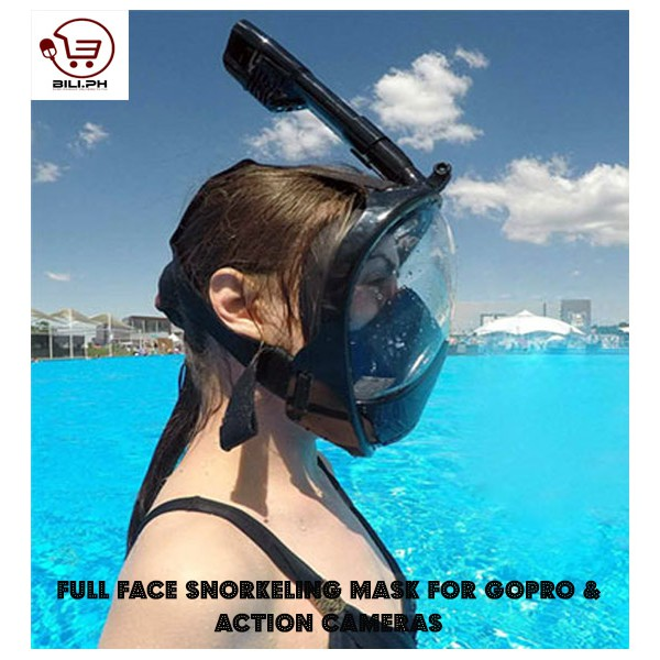 Full Face Snorkeling Mask For GoPro & Action Cameras