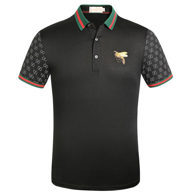 d71493e6e ProductImage. ProductImage. Gucci Men's Embroidery Bee Polo Shirt Short ...