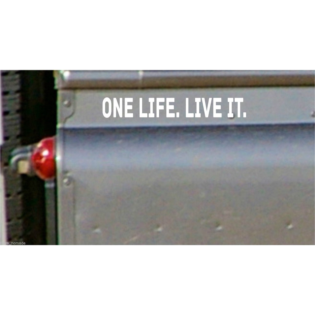 2pcs Small One Life Live It Stickers X 2 Land Rover 4x4