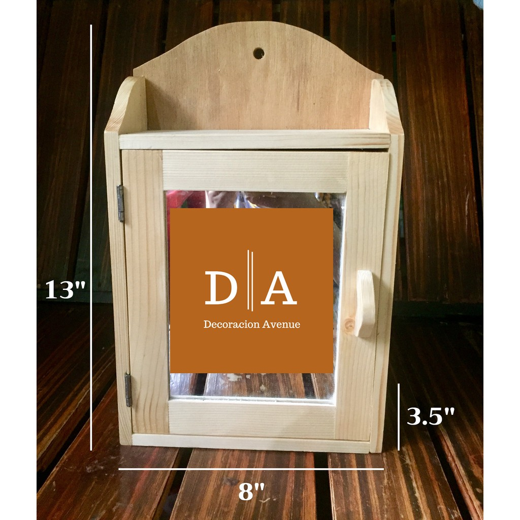 Wooden Medicine Cabinet With Mirror Shopee Philippines