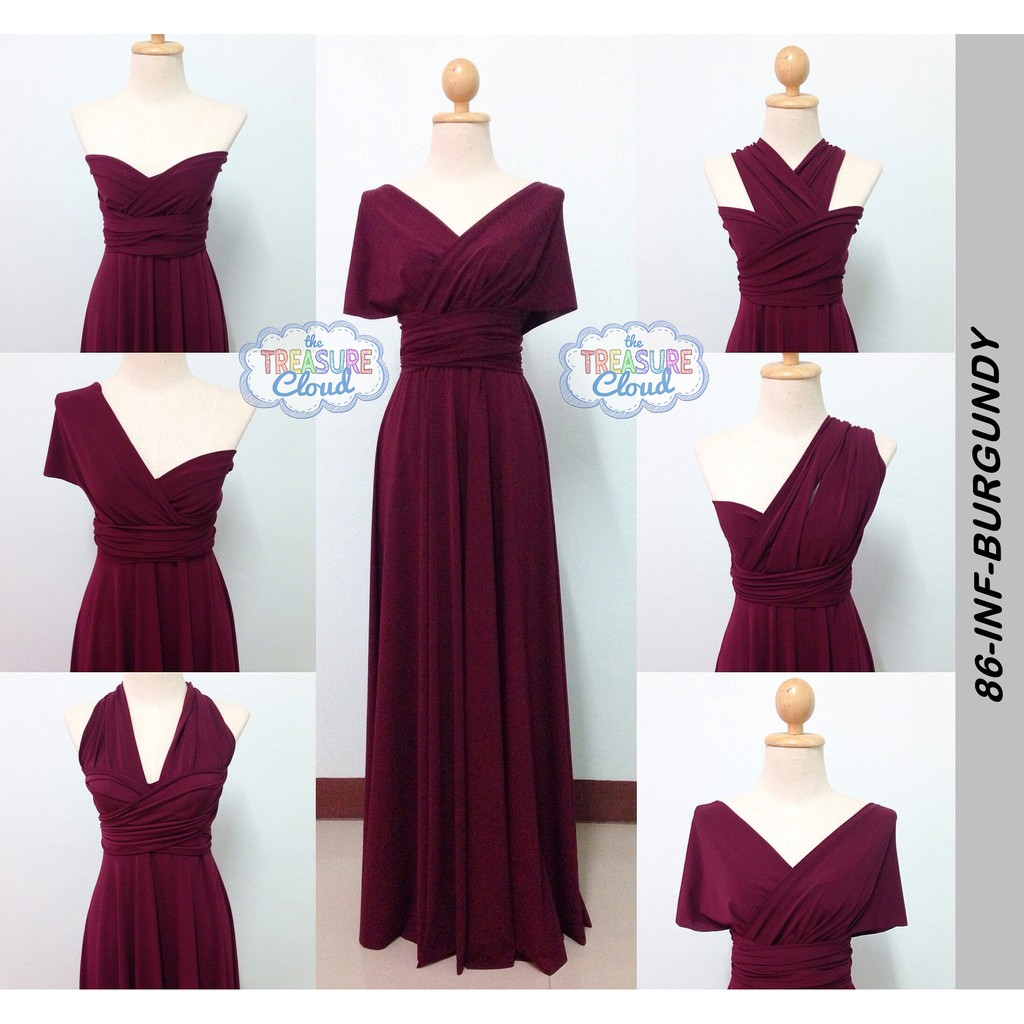 42aacfbe1e6 (BURGUNDY) Infinity Dresses / Bridesmaid Dresses