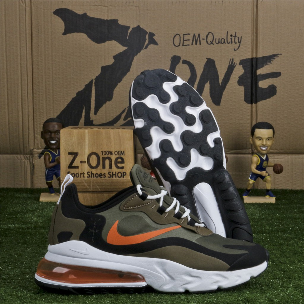 how to buy new authentic new arrivals Nike AIR MAX 270 REACT Running Shoes for Men Army Green/Black ...