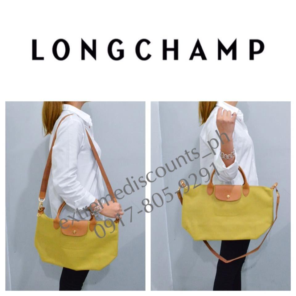 Longchamp Small Le Pliage Shoulder Bag Lemon Yellow Foladable Tote New -  Tradesy ed2d1efab2