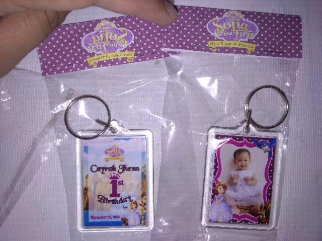 Personalized Acrylic Keychain for Birthday Baptism Giveaways