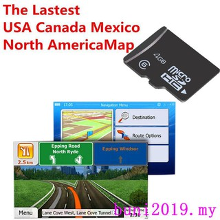 8GB GPS Map Micro SD Card For Car DVD Player Navigation With