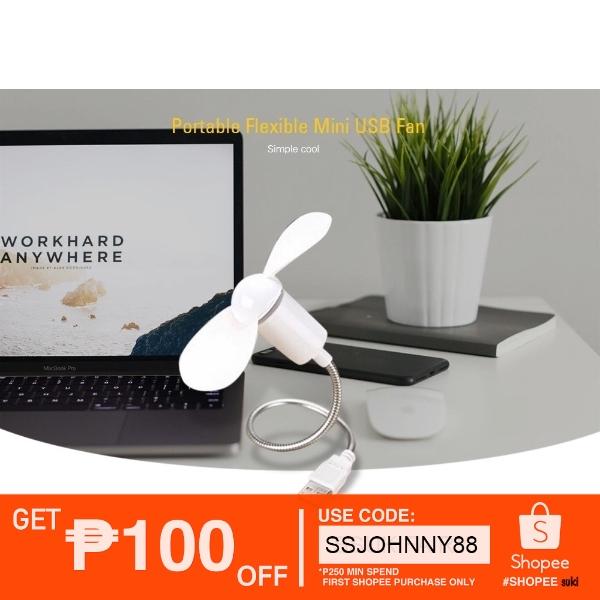 Flexible Portable USB Fan For PC Notebook Laptop Powerbank