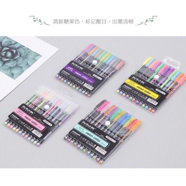 ❤️COD! ZuiXua 12 in 1 Neon Color Pen 1 0mm