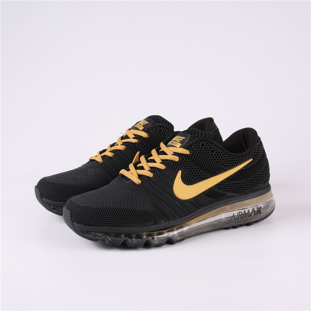 Nike Air Max 2017 Plastic Running Shoes Black Gold Available