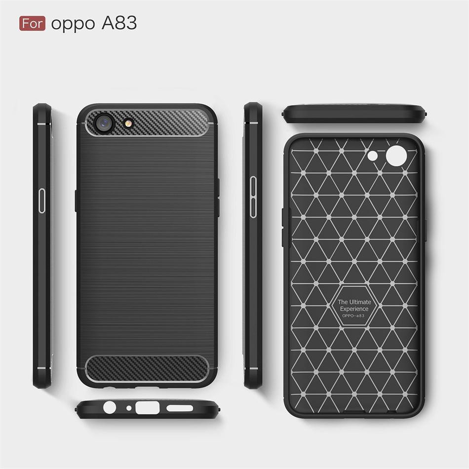 low priced 08448 94483 OPPO A83 Case Carbon Fiber Drop Shockproof Protection Slim TPU Cover