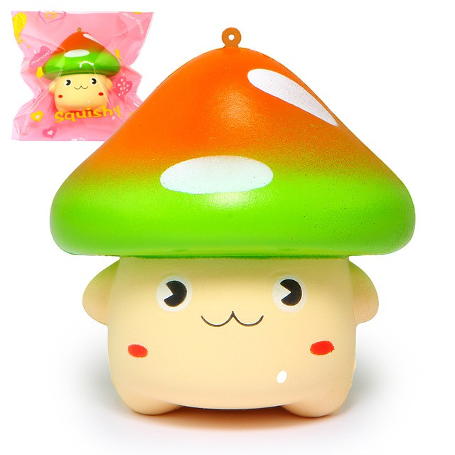 Strange 10Cm Cute Kawaii Mushroom Animal Cartoon Squishy Download Free Architecture Designs Terstmadebymaigaardcom