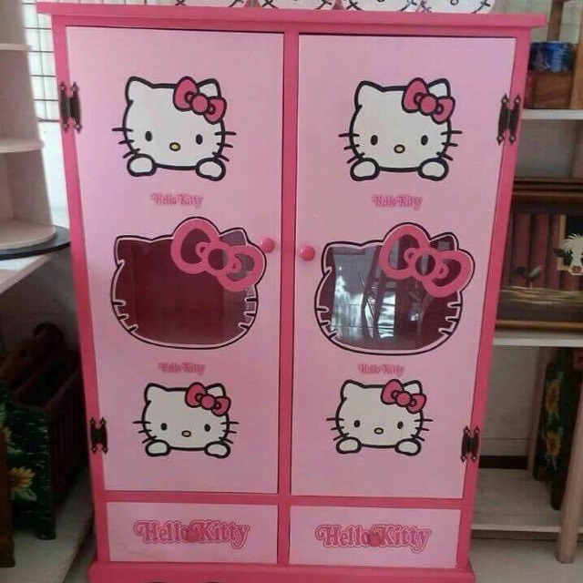 Hello Kitty Bedside Cabinet 2 Layer Shopee Philippines