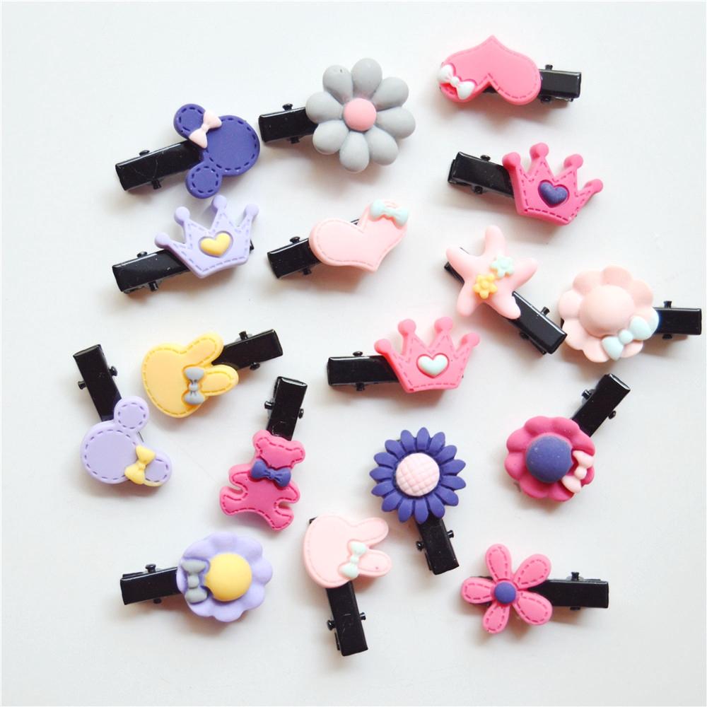 10pcs Cute Cartoon Acrylic Hair Clips Fashion Girls Hairpins Barrettes Accessory