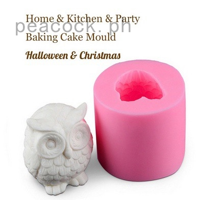 Owl Silicone Soap Molds DIY Chocolate Fondant Cake Candy DIY Halloween Mould