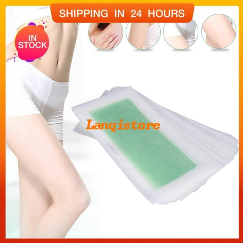 Ready 10pcs Set Armpit Hair Removal Epilator Wax Strip Cold Paper