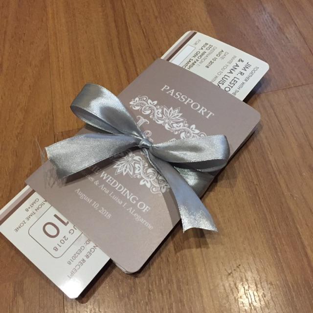 Wedding Invitation Passport Style Shopee Philippines