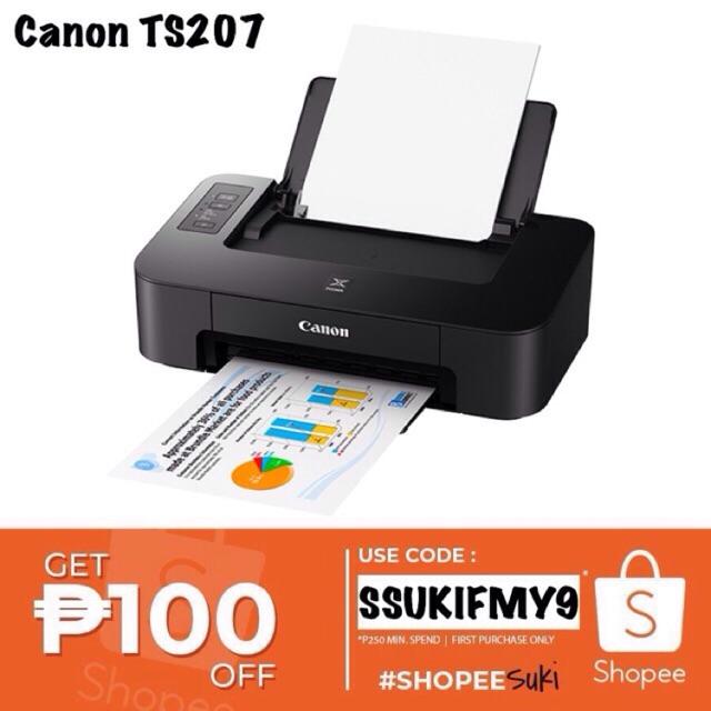 Canon Pixma TS207 Inkjet Printer w/ Borderless Photo Print
