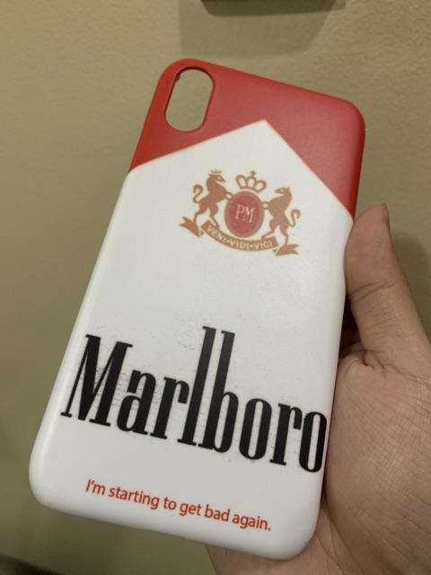 Marlboro Red Snap Case Matte iPhone 5c 5 6s 6+ 7 7+ X XS Max