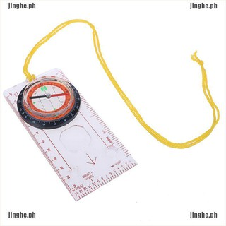Outdoor Compass Ruler Protractor Map Scale Measuring Hiking Camping Drawing Tool