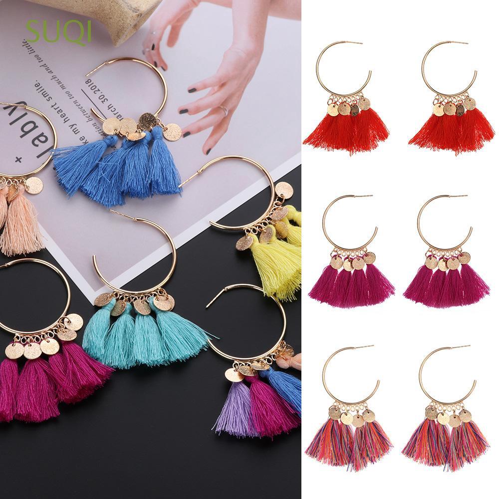 1f80a4a0b Rock Hiphop Minimalist 50mm Women Jewelry Hoop Earrings | Shopee Philippines